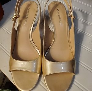 Gold Leather Via Spiga Heels